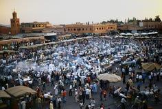 Fnaa di EL di Djem della plaza a Marrakesh Immagini Stock