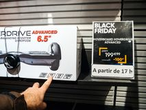 Fnac retail chain Self Balancing Scooter Hoverdrive  man buy Royalty Free Stock Photography
