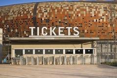 FNB Stadion - Karten-Stand Stockbilder