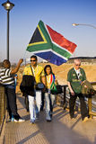 FNB Stadium - Fans Pour Into The Venue Royalty Free Stock Photo