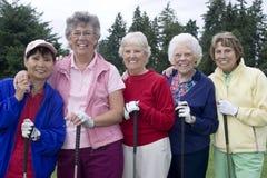 Fünf ältere Frauen Stockfotografie