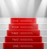 Fünf Schritte Stockfoto