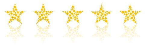 Fünf Stern-Produkt-Qualitätsbewertung Stockfotos