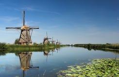 Fünf Windmühlen Stockbild