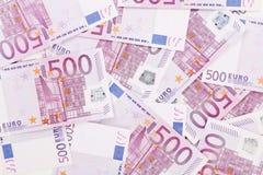 Fünfhundert Euroanmerkungen. Lizenzfreie Stockbilder