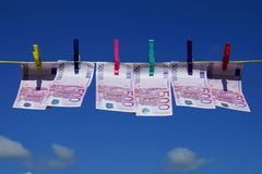 Fünfhundert Eurobanknoten Lizenzfreies Stockfoto