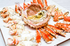 fånga krabbor konungplattan Arkivbild