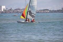 Fnideq-Meer an Sommer 2016 Stockbild