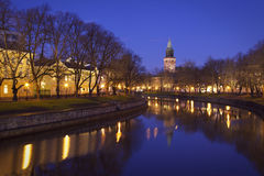 Fnland: River Aurajoki in Turku Stock Photo