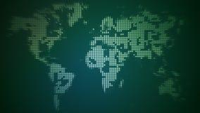 Fnoskig världskarta royaltyfri illustrationer