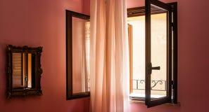 Fönster med solljus och Royaltyfri Fotografi