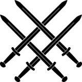 Fnuren från medeltida svärd Arkivbild