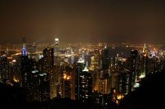 fo香港晚上场面 免版税图库摄影