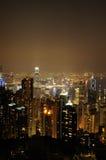 fo香港晚上场面 库存图片