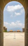 Fo Guang Shan Monastery, Kaohsiung Arkivfoton