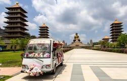 Fo Guang Shan Monastery, Kaohsiung, Taiwan Arkivbilder