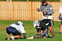 fo-lacrosse kontrollerar officielln Royaltyfri Fotografi