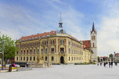 Fo ter (square) in Keszthely town. Hungary Royalty Free Stock Image