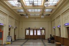 Foajéjärnvägsstation Royaltyfri Bild