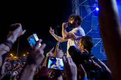 Foals band in concert at Dcode Festival Stock Images