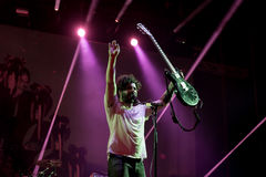 Foals band in concert at Dcode Festival Royalty Free Stock Photo