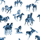 Foals seamless background Royalty Free Stock Photos
