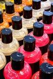 Foam bath bottles Stock Photo