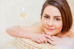 Foam bath with me Stock Photography