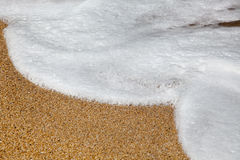 Foam on beach Stock Image