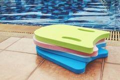 Foam board for learning to swim. Colorful foam board for learning to swim Stock Photos