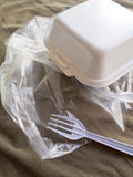 Foam box and Plastic packaging Royalty Free Stock Image