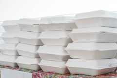 Foam boxes Royalty Free Stock Photography