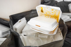 Foam boxes using Royalty Free Stock Photography