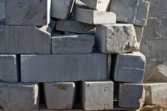 Foam cement blocks Royalty Free Stock Photos