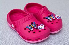 Free Foam Clog Crocs Children Shoes Stock Photos - 140879433