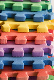 Foam in color. Foam toys in a raw Stock Photography
