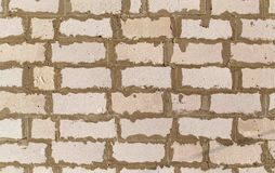 Foam concrete bricks in the wall as an abstract background stock photos