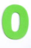 Foam Digit Zero. The digit zero in foam material stock photo