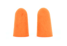 Foam ear plugs Royalty Free Stock Photography