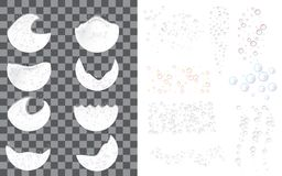 Foam effect icon set, realistic style stock illustration