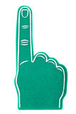 Foam fan finger on a white background Royalty Free Stock Photo