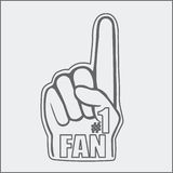 Foam fan hand drawing Royalty Free Stock Image