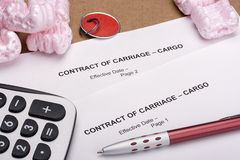 Foam Filler And Contract Stock Images