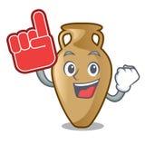 Foam finger amphora mascot cartoon style. Vector illustration Vector Illustration