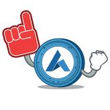 Foam finger Ardor coin mascot cartoon. Vector illustration Royalty Free Stock Photos