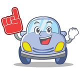 Foam finger cute car character cartoon Royalty Free Stock Image