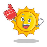 Foam finger cute sun character cartoon Royalty Free Stock Photo