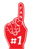 foam finger - fan finger Stock Photography