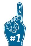 Foam finger - fan finger Royalty Free Stock Images