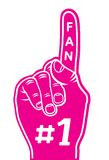 Foam finger - fan finger. Vector illustration of the foam finger - fan finger Royalty Free Stock Image